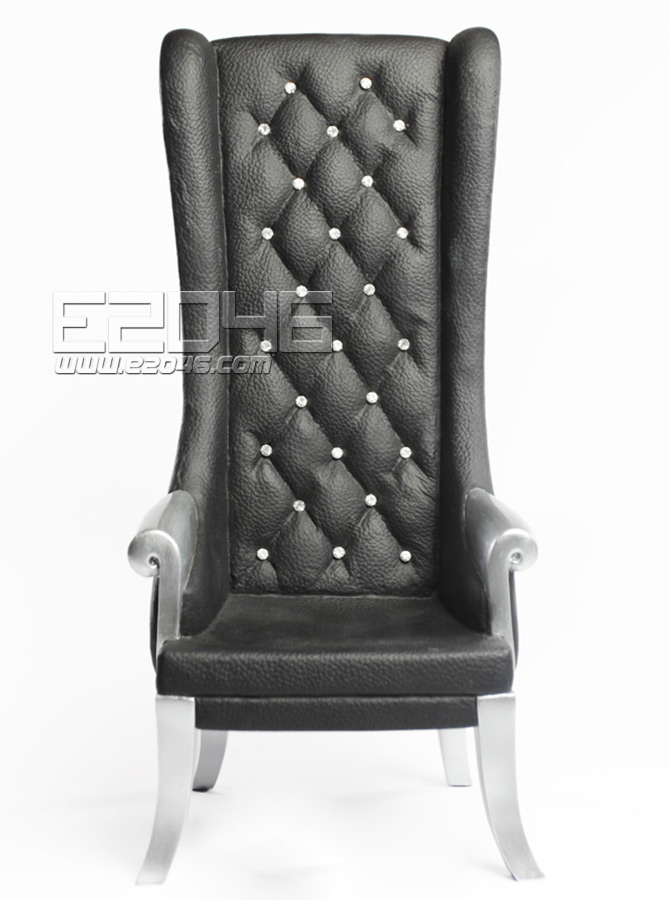 Black High Back Chairs (Dolls)