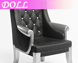 DL0356 1/6 Black High Back Chairs (Dolls)