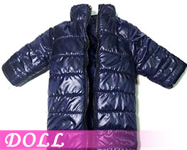 DL3404 1/6 Stand Collar Long Down Coat Light Dark Blue (DOLL)