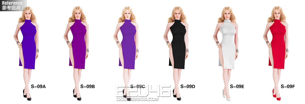 Sexy Lady Double Slit Skirt Suit F (DOLL)