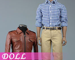 DL2784 1/6 Mens Retro Leather Suit (DOLL)