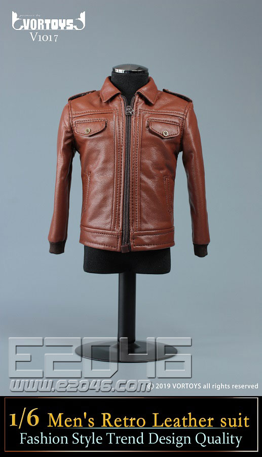 Mens Retro Leather Suit (DOLL)