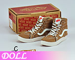 DL0713 1/6 Coyote Brown Suede skate shoes (Doll)
