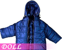 DL3410 1/6 Hoodie Long Down Coat Dark Blue (DOLL)