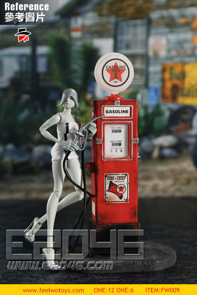 Vintage Gas Pump B (DOLL)