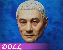 DL2605 1/6 Samurai Head White Hair D2 (DOLL)
