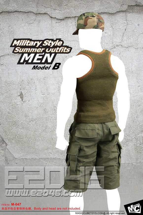 Military Style Summer Outfits  MEN B (Doll)