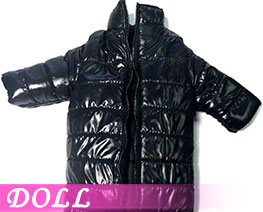 DL3403 1/6 Stand Collar Long Down Coat Light Black (DOLL)