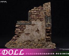 DL2027 1/6 Simulated War Ruins Scene Platform (DOLL)