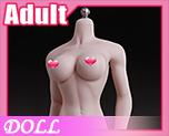 DL1145 1/6 白肤色大胸无缝包胶女素体 (人偶)