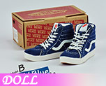 DL0712 1/6 Navy Suede skate shoes (Doll)