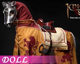 DL3662 1/6 Silver Armor Horse (DOLL)
