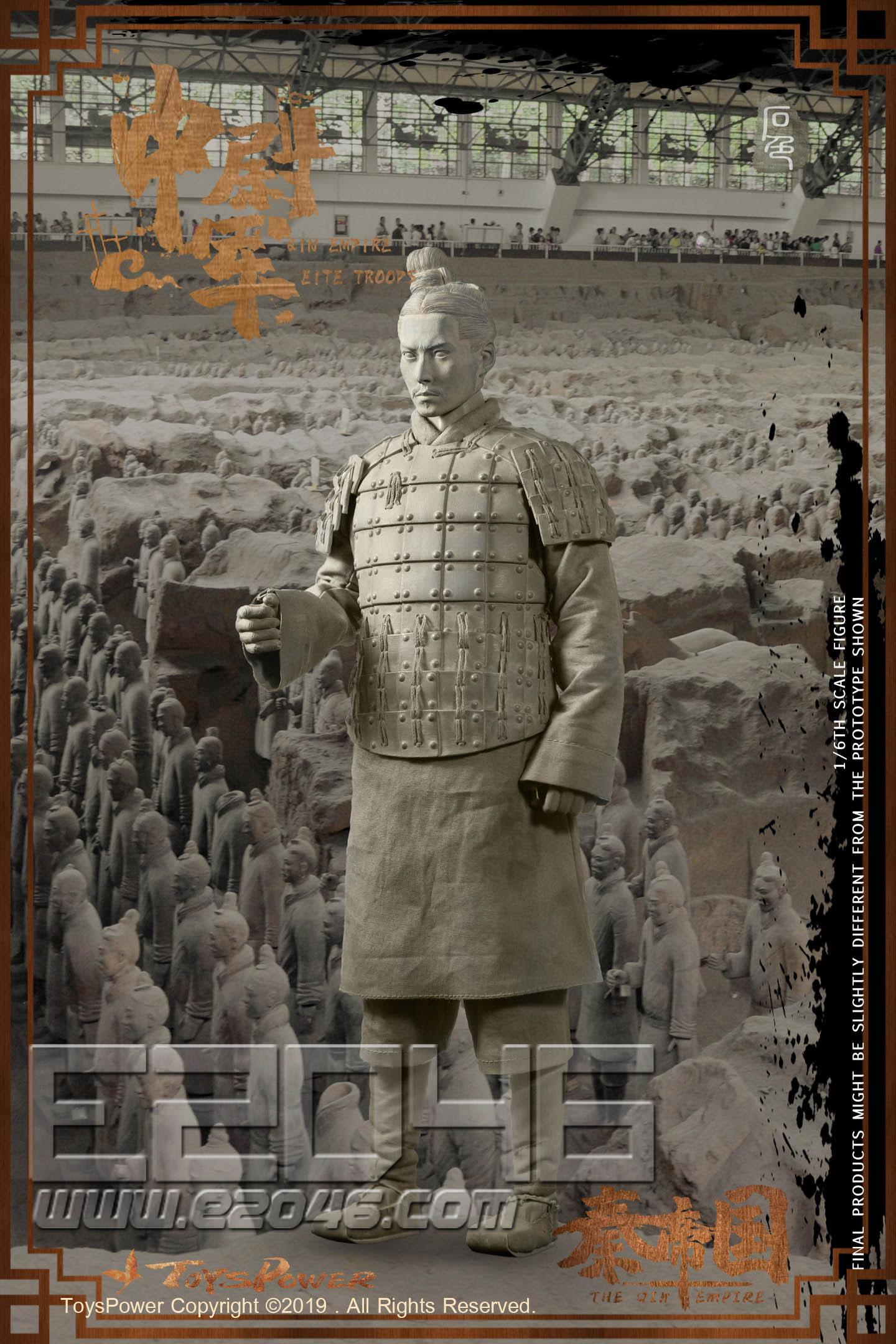 中尉軍兵馬俑 C石色版 (人偶)