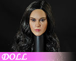 DL0728 1/6 Black haired female head carved (Doll)