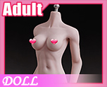 DL1147 1/6 White Skinned Medium Breast Size Female Seamless Muscular Body (Doll)