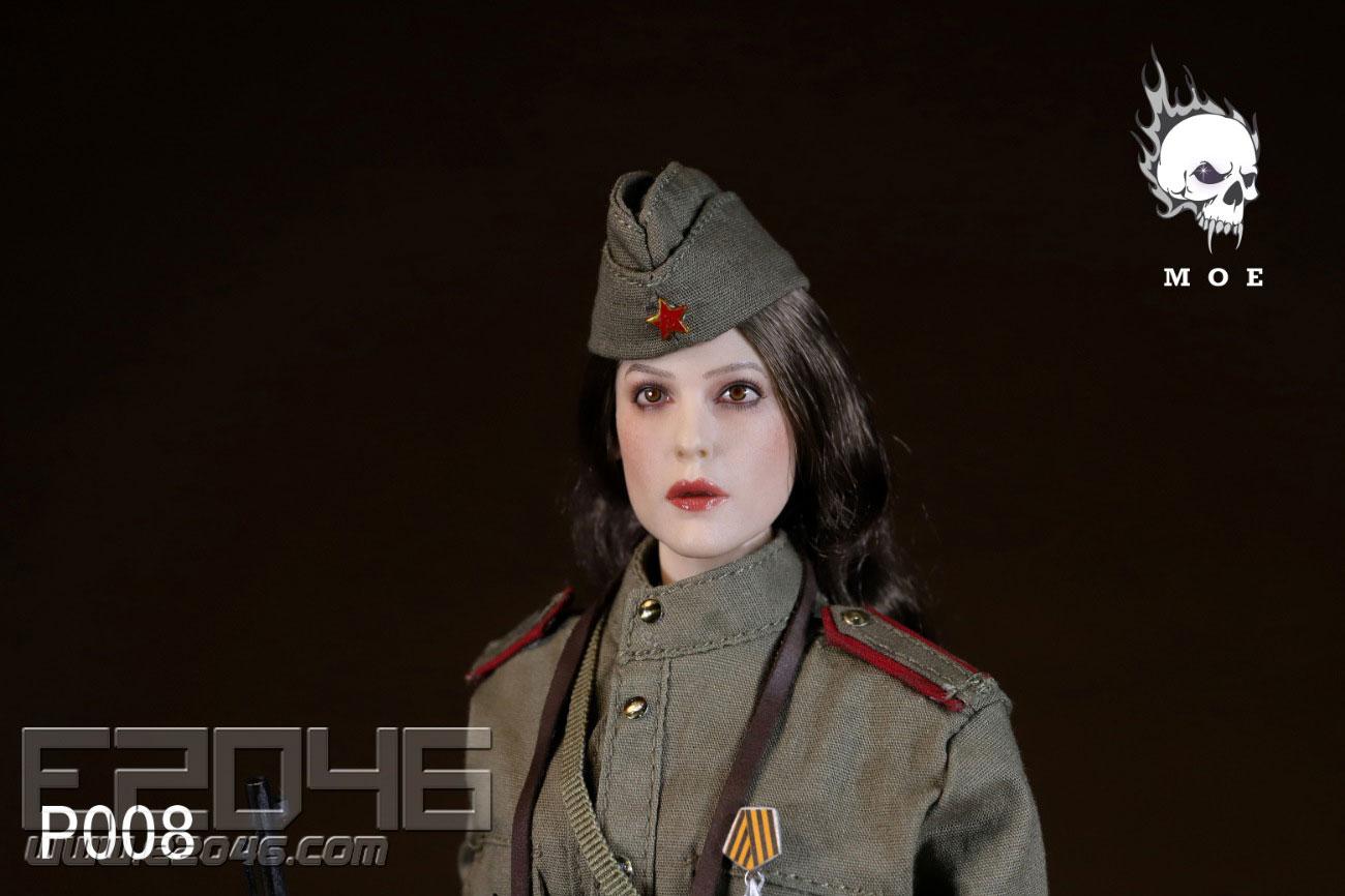 蘇聯雪地迷彩女狙擊手 (人偶)