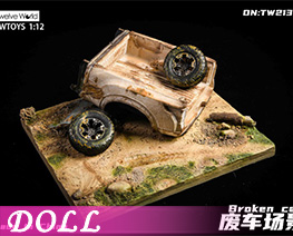 DL4502 1/12 Scrap Car Scene Platform F (DOLL)