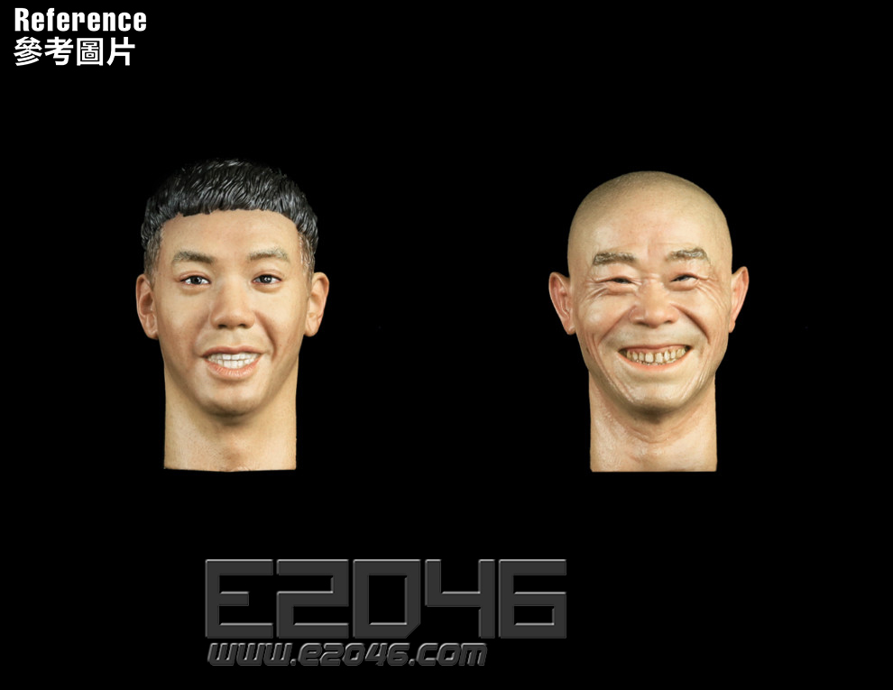 Asian Male Head Sculpt with Expression A (DOLL)