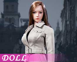 DL1739 1/6 Female trench coat suit C (DOLL)