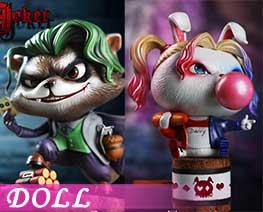 DL2711  Rabbit Clown And Raccoon Clown (DOLL)