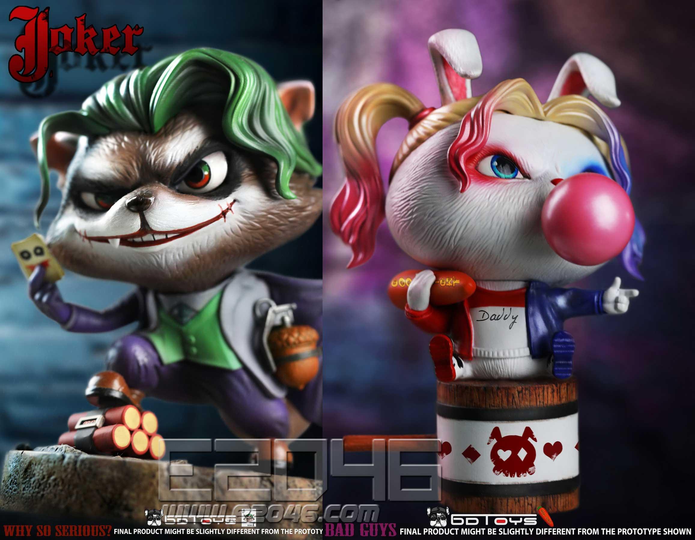 Rabbit Clown And Raccoon Clown (DOLL)