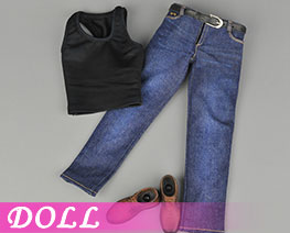 DL2136 1/6 Sports Vest Jeans Suit B (DOLL)