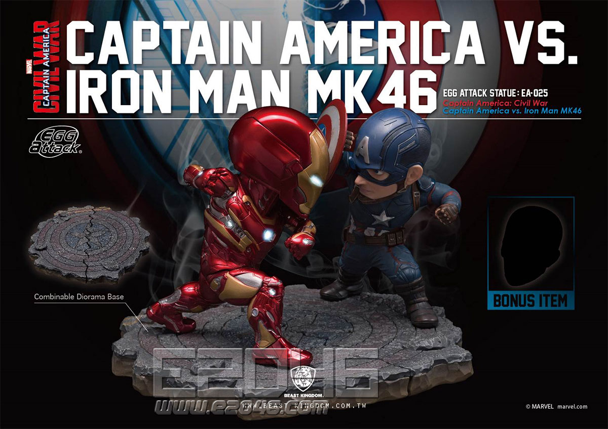 Captain America VS Iron Man MK46(DOLL)