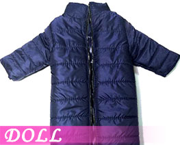 DL3405 1/6 Stand Collar Long Down Coat Dark Blue (DOLL)