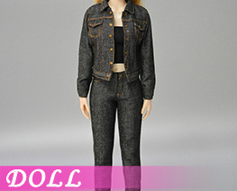 DL4125 1/6 Ladies Denim Suit A (DOLL)