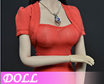 DL0594 1/6 Female's Red Dress Set (Doll)