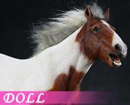 DL1604 1/6 Saddle white horse (DOLL)
