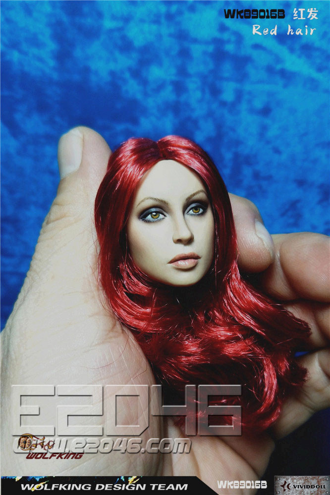 Head Carving Red Hair (DOLL)