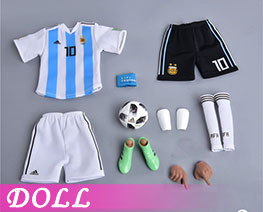 DL2257 1/6 Football Uniform No. 10 (DOLL)