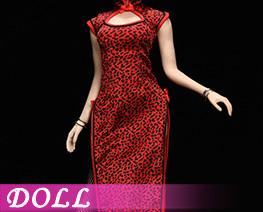 DL4218 1/6 Leopard Print Cheongsam Suit C (DOLL)