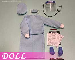 DL3340 1/6 Female Isolation Gown (DOLL)