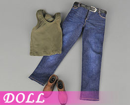 DL2137  Sports Vest Jeans Suit C (DOLL)