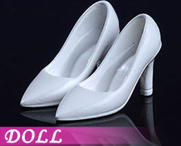 DL2228 1/12 Fashion High Heels White (DOLL)