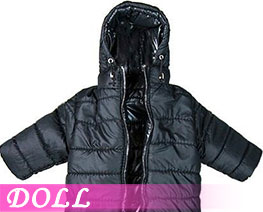 DL3409 1/6 Hoodie Long Down Coat Black (DOLL)