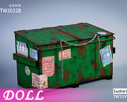 DL4039 1/6 Metal Trash Can B (DOLL)