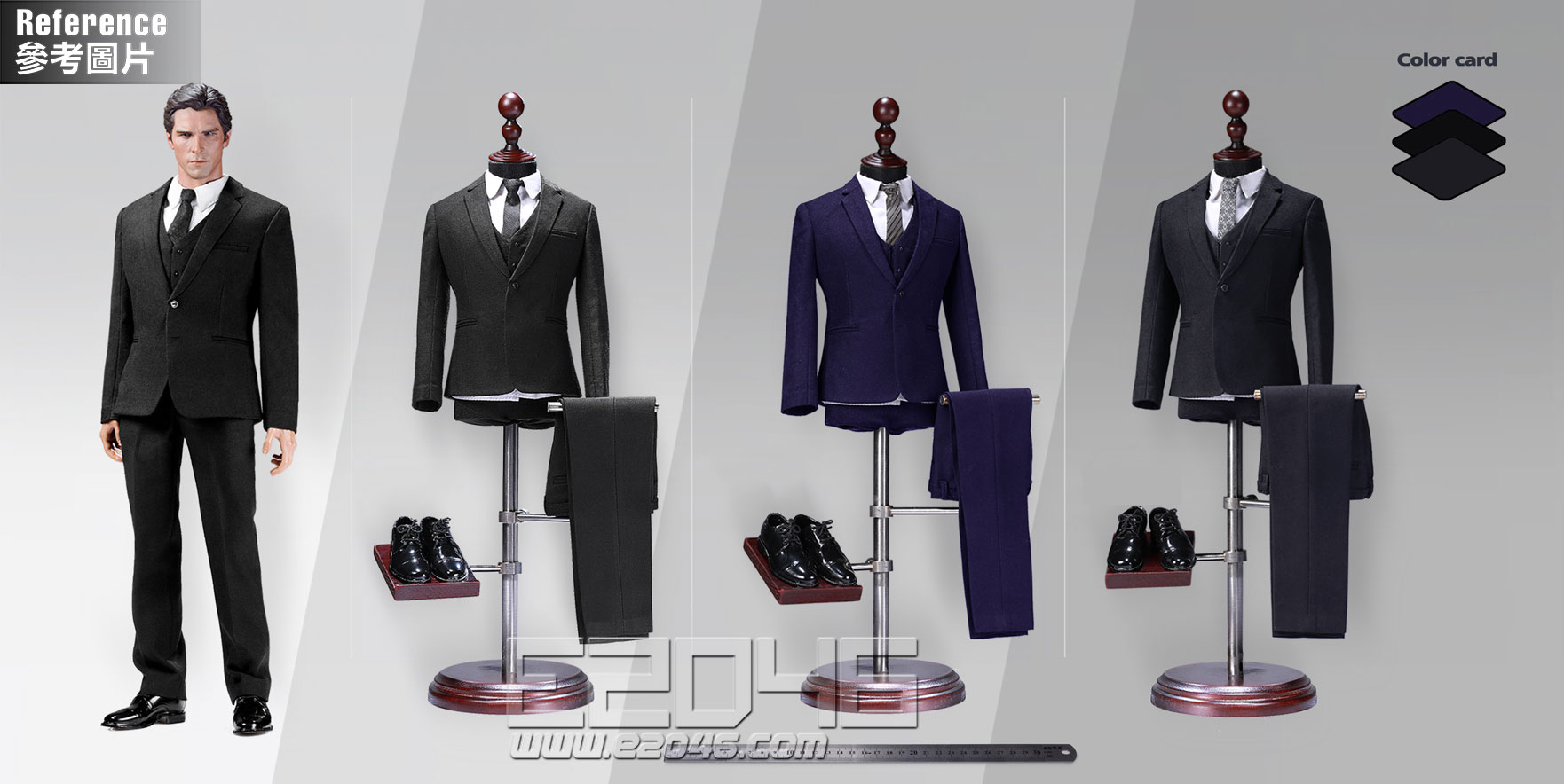 Male western-style clothes suit solid colors version A (DOLL)