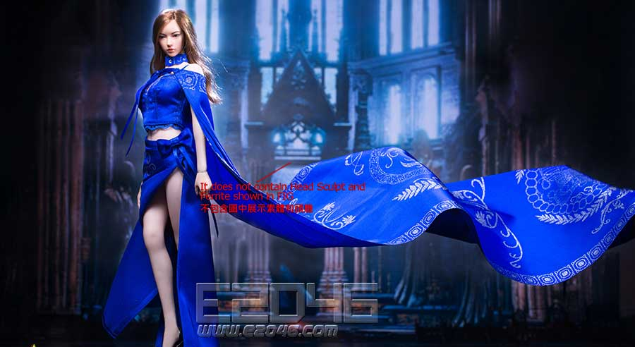 Queen style long retro skirt D (DOLL)