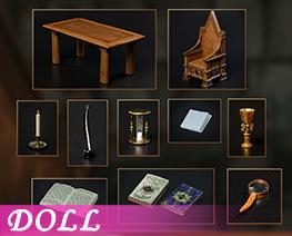 DL4382 1/6 Professor's Desk (DOLL)