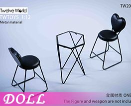 DL3986 1/6 Metal Table And Chair Scene A (DOLL)