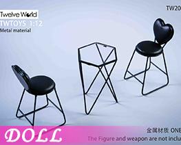 DL3986 1/6 金属桌椅场景 A (人偶)
