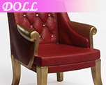 DL0355 1/6 Red High Back Chairs (Dolls)
