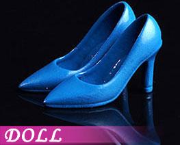 DL2230 1/12 时尚女高跟鞋蓝色 (人偶)