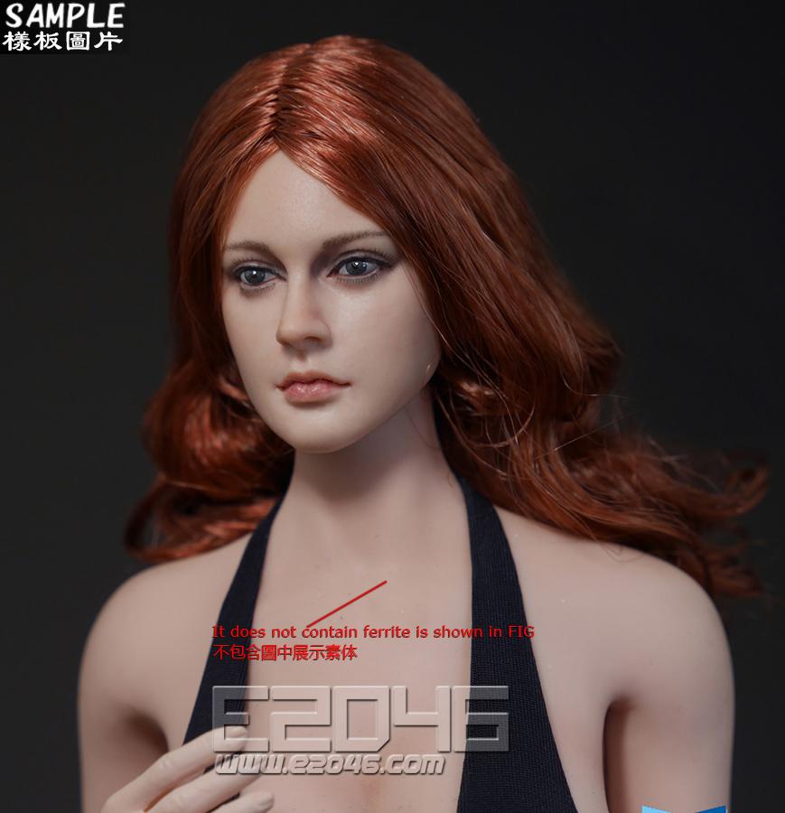 Long hair female head (Doll)