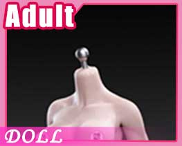 DL1432 1/6 White Middle Breast Flexible Female Seamless Body A (DOLL)