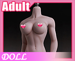 DL1146 1/6 Suntan Medium Large Breast Size Female Seamless Body (Doll)