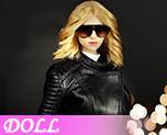 DL0872 1/6 Black female leather suit (Doll)
